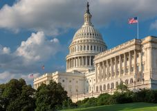 The United States Capitol building, Washington DC. The United States Capitol building is the home of the United States Congress and located in Washington DC royalty free stock photography