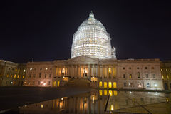 United States Capitol building in Washington, DC at night. Stock Images