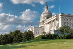 United States Capitol building in Washington DC. The United States Capitol building in sunny day, Washington DC Stock Photos