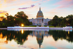 United States Capitol building in Washington, DC. At sunrise stock image