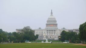 United States Capitol building in Washington in the morning stock video footage