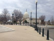 United States Capitol without busy stock photo