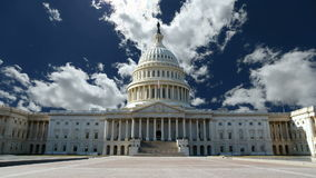 United States Capitol with Churning Clouds stock video footage