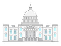 United States Capitol. Doodle illustration of United States Capitol Building Stock Image