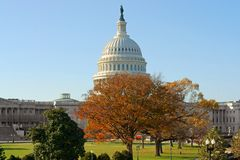 United States Capitol, home of United States Congress and seat of legislative branch of U.S. federal government, on Capitol Hill. At eastern end of National royalty free stock photography