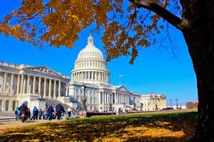US Capital Building in Autumn, Washington, DC. Stock Photos