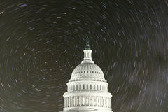 United States Capitol with North Star Rotation Stock Image