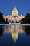 United States Capitol with Reflecting Pool Stock Photography