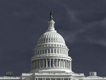 United States Capitol Thunderstorm Royalty Free Stock Photos