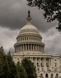 United States Capitol, Washington at a cloudy day stock photos