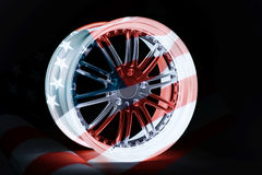 United States car rim Royalty Free Stock Images