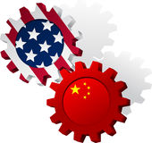 United States, China Industry Royalty Free Stock Photo