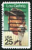 Lou Gehrig. UNITED STATES - CIRCA 2000: stamp printed by United states, shows baseball, Lou Gehrig, circa 2000 stock images