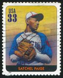 Satchel Paige. UNITED STATES - CIRCA 2000: stamp printed by United states, shows baseball, Satchel Paige, circa 2000 Royalty Free Stock Photo