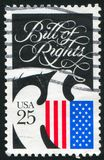 Bill of Rights. UNITED STATES - CIRCA 1989: stamp printed by United states, shows Bill of Rights, circa 1989 stock photography