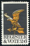 Eagle Weather Vane. UNITED STATES - CIRCA 1968: stamp printed by United states, shows Eagle Weather Vane, circa 1968 royalty free stock photos