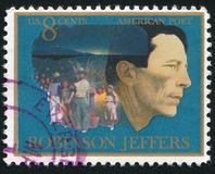 Robinson Jeffers. UNITED STATES - CIRCA 1973: stamp printed by United states, shows Robinson Jeffers, circa 1973 Stock Images