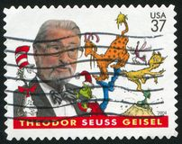 Seuss. UNITED STATES - CIRCA 2004: stamp printed by United states, shows Seuss, Writer, circa 2004 Royalty Free Stock Image