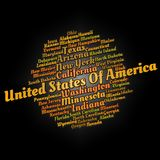 United States cities. Word cloud text concept Stock Images