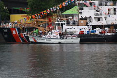 United States Coast Guard. At the 2011 Rose fest in Portland,Oregon Royalty Free Stock Photo