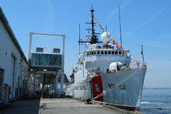 United States Coast Guard Cutter Forward docked in Brooklyn Cruise Terminal during Fleet Week 2016 Coast, Cutter, War, Week, Guard. NEW YORK - MAY 26, 2016 Royalty Free Stock Images
