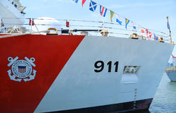 United States Coast Guard Cutter Forward docked in Brooklyn Cruise Terminal during Fleet Week 2016 Stock Photos