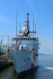 United States Coast Guard Cutter Forward docked in Brooklyn Cruise Terminal during Fleet Week 2016. NEW YORK - MAY 26, 2016: United States Coast Guard Cutter Royalty Free Stock Photos