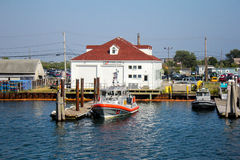 United States Coast Guard, Galilee, RI. Royalty Free Stock Image