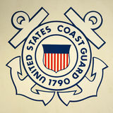 United States Coast Guard Insignia. On USCGC Ingham (WHEC-35), Key West, Florida, USA Royalty Free Stock Photo