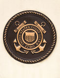 United states coast guard plaque. Close-up of the emblem for the united states coast guard Royalty Free Stock Images