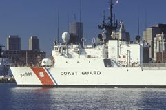 United States Coast Guard Ship, Boston Harbor, Massachusetts Stock Image
