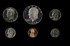 United states coins Royalty Free Stock Photo