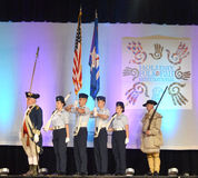 United States Color Guard. The United States Color Guard presents the colors at the Holiday Folk Fair International at State Fair Park in Milwaukee, WI Stock Images