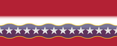 United States colors border. USA red, white and blue border with beveled stars Stock Images