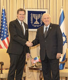 United States Congressional Delegation Meets with Israel President Stock Image
