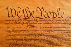 United States Constitution stock image