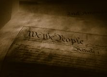 The United States Constitution royalty free stock image
