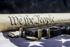 United States constitution and gun rights Royalty Free Stock Photo