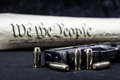 United States constitution and gun rights Stock Photos