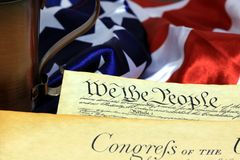 United States Constitution, We The People Stock Image
