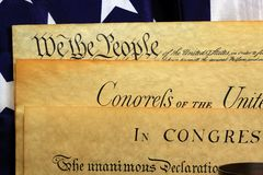 United States Constitution, We The People Stock Photo