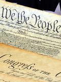 United States Constitution, We The People Royalty Free Stock Photos