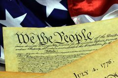 United States Constitution, We The People Royalty Free Stock Photo