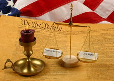 United States Constitution, Scales weighing  Royalty Free Stock Photography