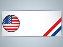 United States Country Set of Banners Stock Photos