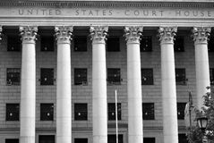 United States Court House. An United States Court House in New York City royalty free stock photos