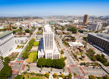 United States Courthouse with cityscape of LA Stock Photos