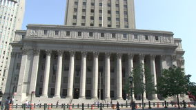 United States Courthouse in New York City stock footage