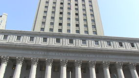 United States Courthouse in New York City stock video footage
