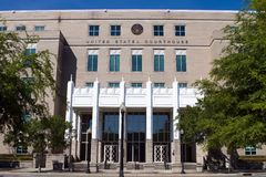 United States Courthouse Pensacola. The United States Courthouse located in Pensacola, Florida, USA Royalty Free Stock Photo